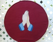 Steering wheel cover, fabric steering wheel cover,  praying hands