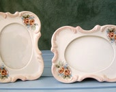 ceramic photo frames - small set of two matching photo frames