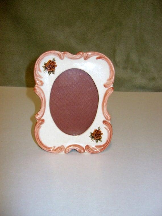 Frame, photo frame,  small vertical ceramic frame, decorated frame