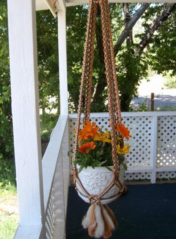 Macrame plant hanger - brown Multicolor