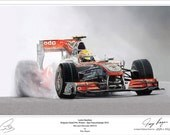 Lewis Hamilton Limited Edition F1 Art Print
