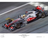 Lewis Hamilton McLaren 2011 Limited Edition Art Print