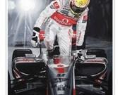 Lewis Hamilton Singapore GP Night Race 2009. McLaren Mercedes MP4/24 Limited Edition Art Print