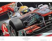 Lewis Hamilton Monaco Limited Edition F1 Art Print