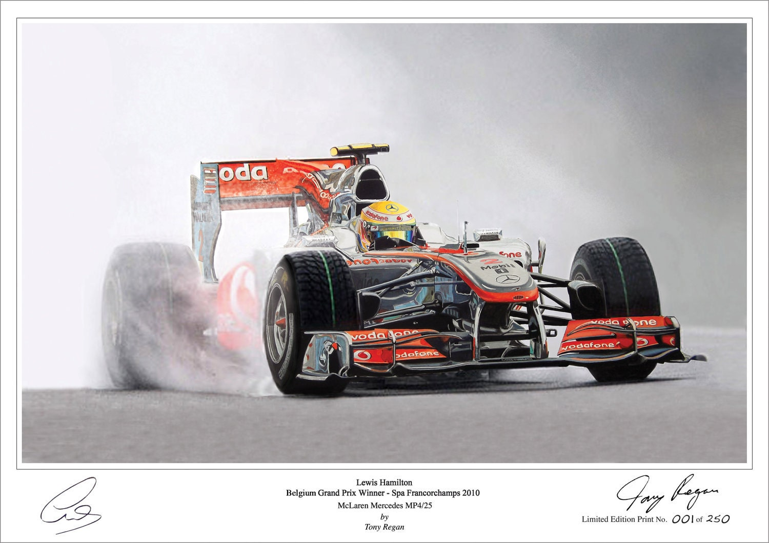 Lewis Hamilton Painting Lewis Hamilton Limited Edition