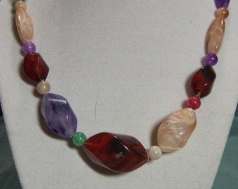 Earth Tone Colored Necklace