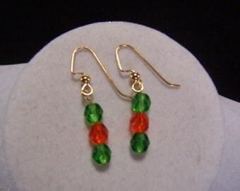 Green & Orange Earrings
