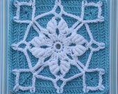 Texas Snowflake Crochet Bullion Afghan Block Pattern PDF - With Permission to sell finished item