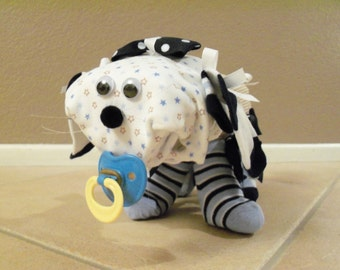 Baby Boy Diaper Dog  - an adorable baby shower gift, made to order