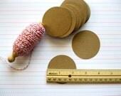 Kraft Punch Circles, Set of 75, Kraft Tags or Labels, DIY, 2.25 Inches