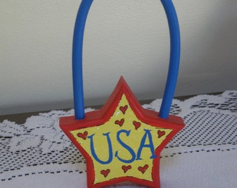 USA Star  Love Chunk with Hanger
