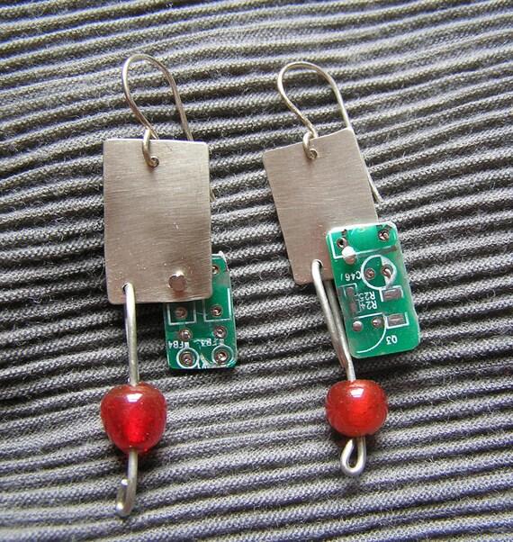 Handmade Graphic Card Earrings