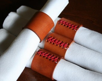 Handcrafted Leather Napkin Rings
