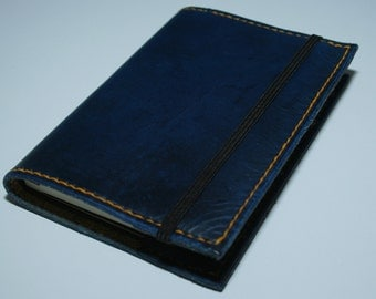 Handmade Blue Leather Notebook