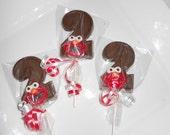 12 Sesame Street Elmo 2nd  Birthday Gourmet Chocolate Lollipops Birthday Gifts Party Favor Kids