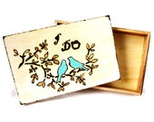 Rustic Wedding Wish box. Personalized for the Bride and Groom.  Something blue.