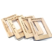 Rustic Bridesmaid gifts.  Custom Wedding party frames. Set of 4 mix and match frames.