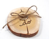 SMALLER sized RUSTIC ring bearer pillow. Rustic Wedding decoration.
