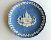 Christmas Plate 1972 Wedgwood Blue Jasperware