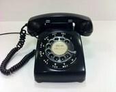 Black Rotary Telephone Western Electric 1965