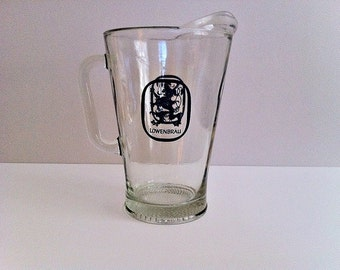 Vintage  Lowenbrau Beer Pitcher