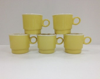 Mod Yellow Stacking Mugs
