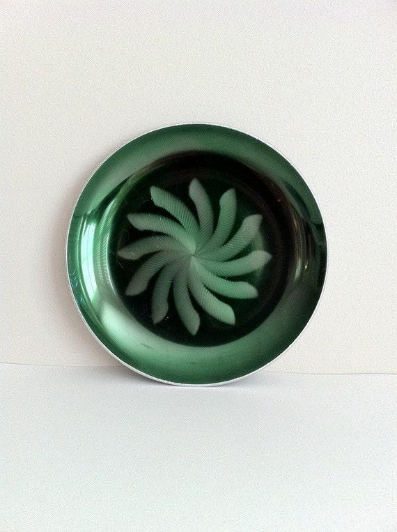 Green Metal Plate Olden Norway