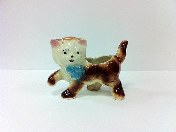 Shawnee Cat Planter Ceramic Pottery Kitsch