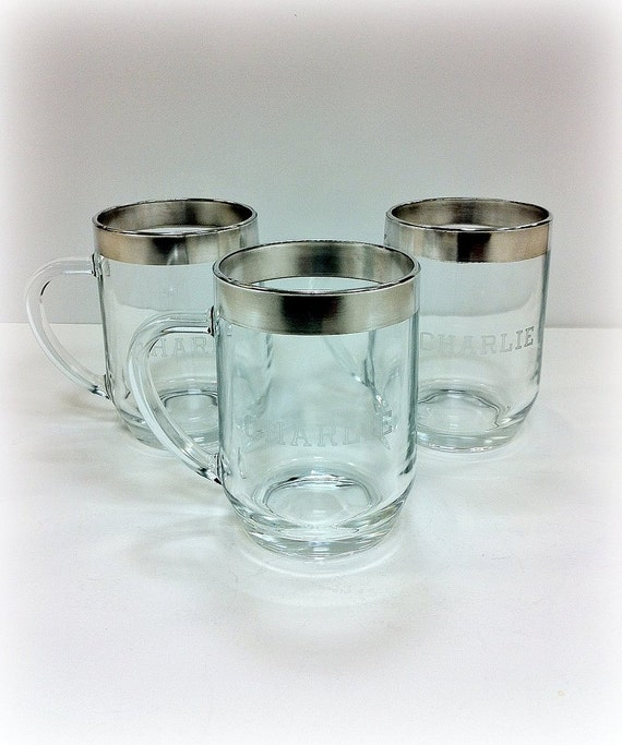 Dorothy Thorpe Silver Band Personalized Charlie Mugs