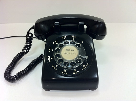 Black Rotary Telephone Western Electric 1965