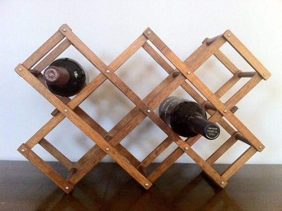 Wine Rack Wooden Accordion Wine Rack