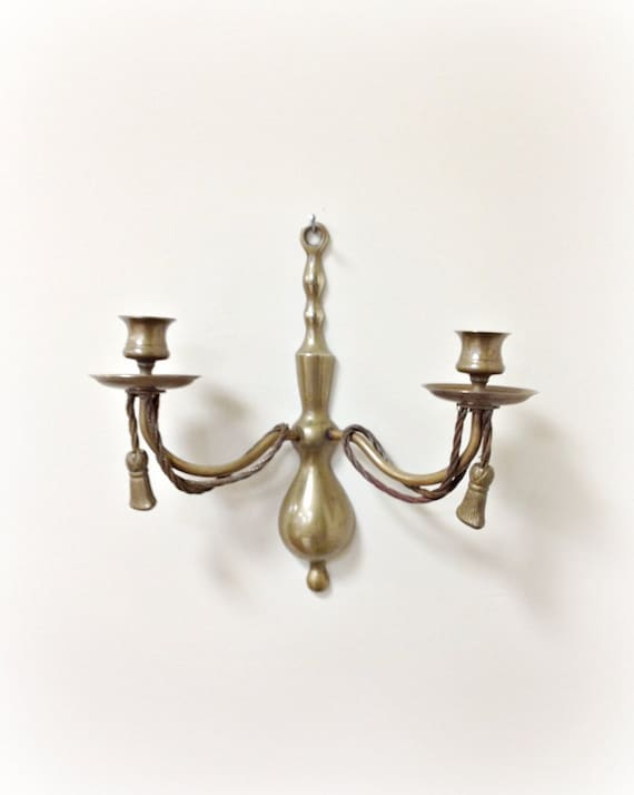 Wall Sconce Brass Rope and Tassel