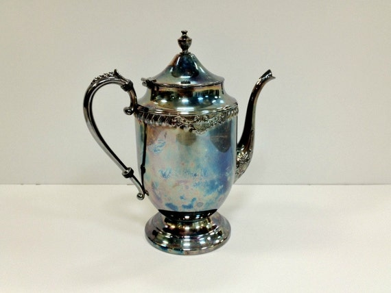 Vintage Teapot of Silver Plated Copper
