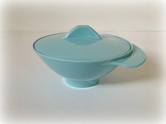 Melmac Sugar Dish Space Age Turquoise