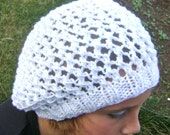 PDF Knitting Patten, Slouchy Summer Hat and Beanie
