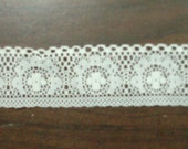 6 YARDS of Delicate Cream Lace with Scalloped Accents DESTASH