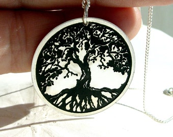 Tree of life necklace, tree jewelry, tree of life pendant, tree jewelry, tree of life charm, branch jewelry, silver tree,  tree necklace