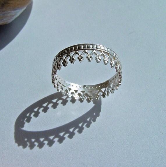 items similar to crown ring princess ring sterling