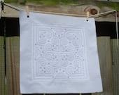 Handstiched Quilt Block with Black Detailed Stiches
