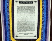 Desiderata Quilted Wall Hanging