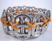 L Poppy Toppy 26 Tab Bracelet in Bright Orange - size L - Donation made to Ronald McDonald house with your purchase