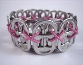 L Poppy Toppy 26 Tab Bracelet in Pink - size Large - Donation made to Ronald McDonald house with your purchase