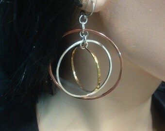 Large Tri-Color Hoops