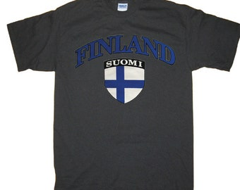 Finland Suomi Finnish Flag T-Shirt, More colors S M L XL 2X 3XL 4XL 5XL