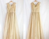 You are the sunshine // Vintage 1950s organza gown