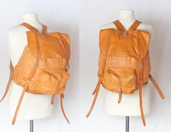 The Ranger // Vintage Natural Leather Backpack