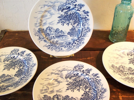 Vintage Wedgewood Countryside Bread and Butter Plates