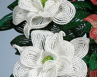 Beaded Flower Gardenia