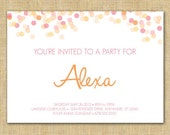 Printable Invitation - Fun Confetti, Pink
