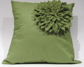 "18""X18"" Dahlia Felt Flower Pillow Cover"